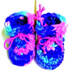Newborn Wool Moccasins - Pink