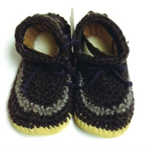 Ladies Wool Moccasins - Brown