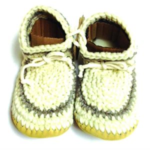 Ladies Wool Moccasins - Cream