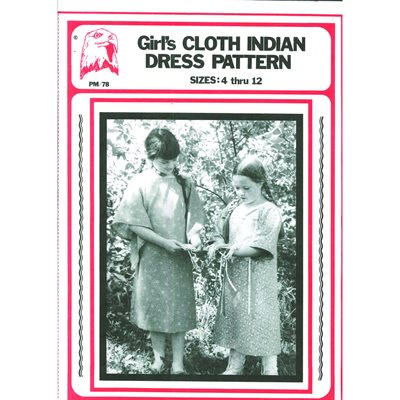 Pattern - Girl's Indian Cloth Dress