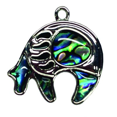 Pendant - Abalone Otter (with Paw)