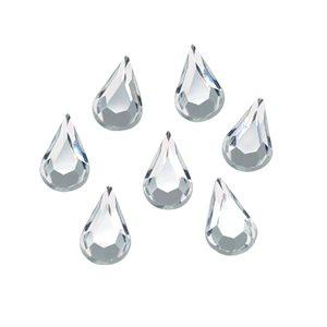 Flat Back Rhinestones - Crystal Teardrop (12 Pieces)
