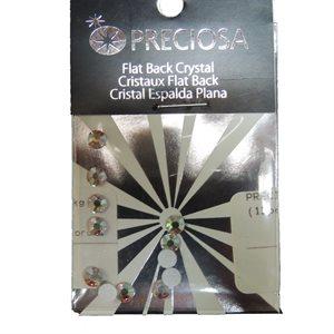 Preciosa Viva 12 Flatback SS20  (12Pcs) Crystal Ab