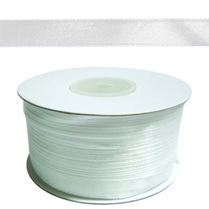 Satin Ribbon - White