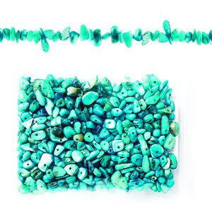 Semi Precious Chips - Aqua Dyed MOP