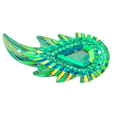 Sew-On Piikki Stones (10 Pieces) 17 x 36 Leaf Turquoise