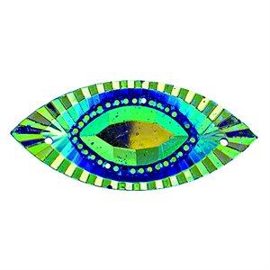 Sew-On Piikki Stones (10 Pieces) 18 x 40 Navette Royal Blue