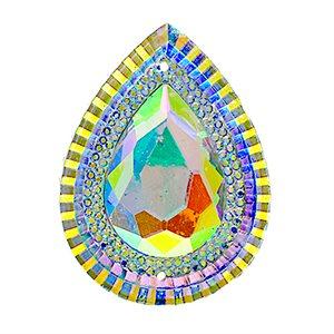 Sew-On Piikki Stones (10 Pieces) 20 x 30 Drop Crystal