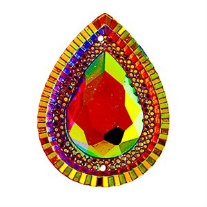 Sew-On Piikki Stones (10 Pieces) 20 x 30 Drop Sun