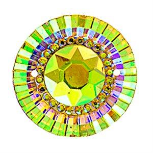 Sew-On Piikki Stones (10 Pieces) 20 mm Round Citrine