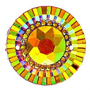 Sew-On Piikki Stones (10 Pieces) 20 mm Round Sun