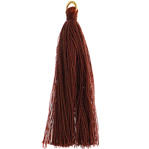 """Poly Cotton Tassels (10 Pieces) 2.25"""" Brown"""