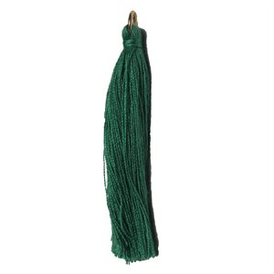"""Poly Cotton Tassels (10 Pieces) 2.25"""" Emerald"""