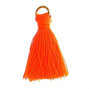 "Poly Cotton Tassels (10 Pieces) 1"" Orange"