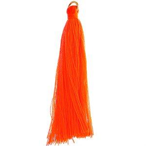 "Poly Cotton Tassels (10 Pieces) 2.25"" Orange"