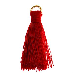"Poly Cotton Tassels (10 Pieces) 1"" Red"
