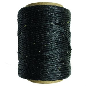 Waxed Polyester Thread - Black (100 Yd.)